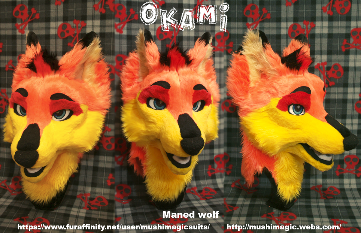 Maned Wolf Head 2015